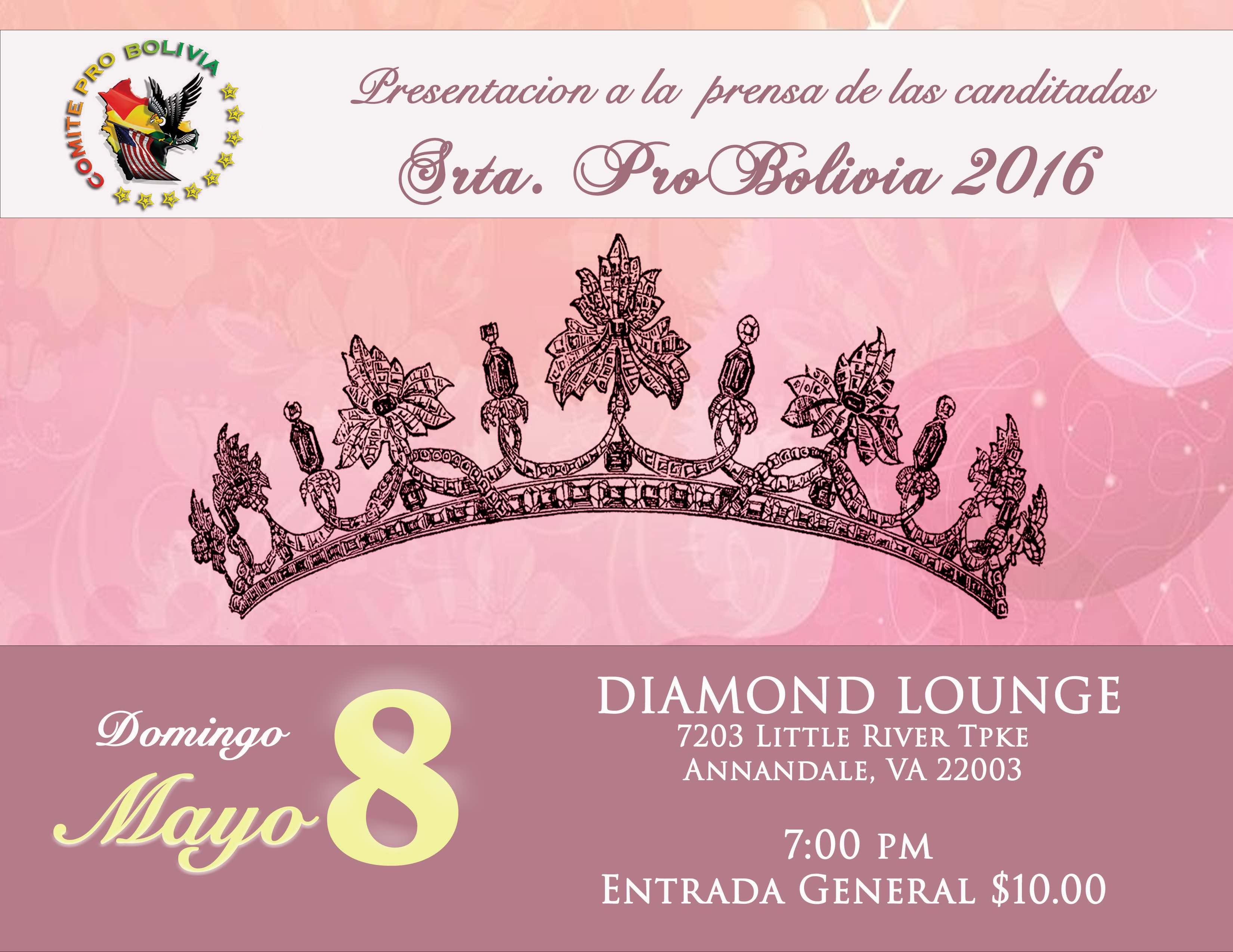 Miss Pro Bolivia 2016 - Presentation of candidates